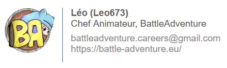 Leo673, Chef-Animateur BattleAdventure